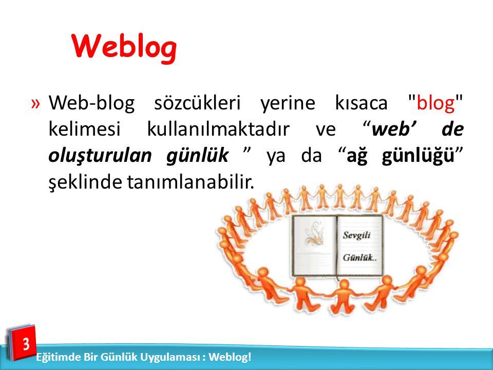 Weblog »Web-blog sözcükleri yerine kısaca
