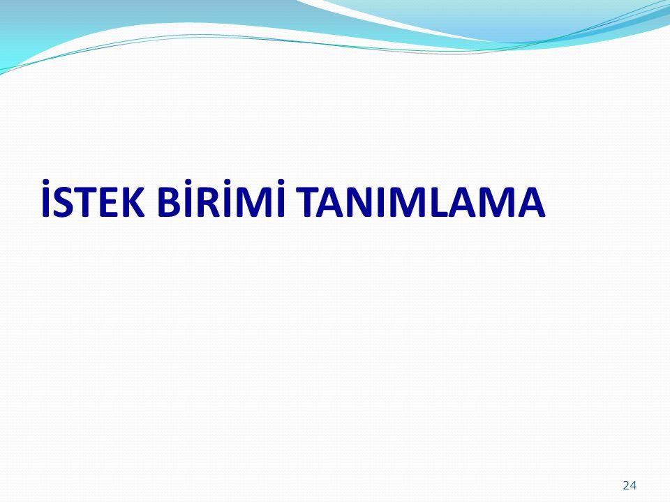 İSTEK BİRİMİ TANIMLAMA 24