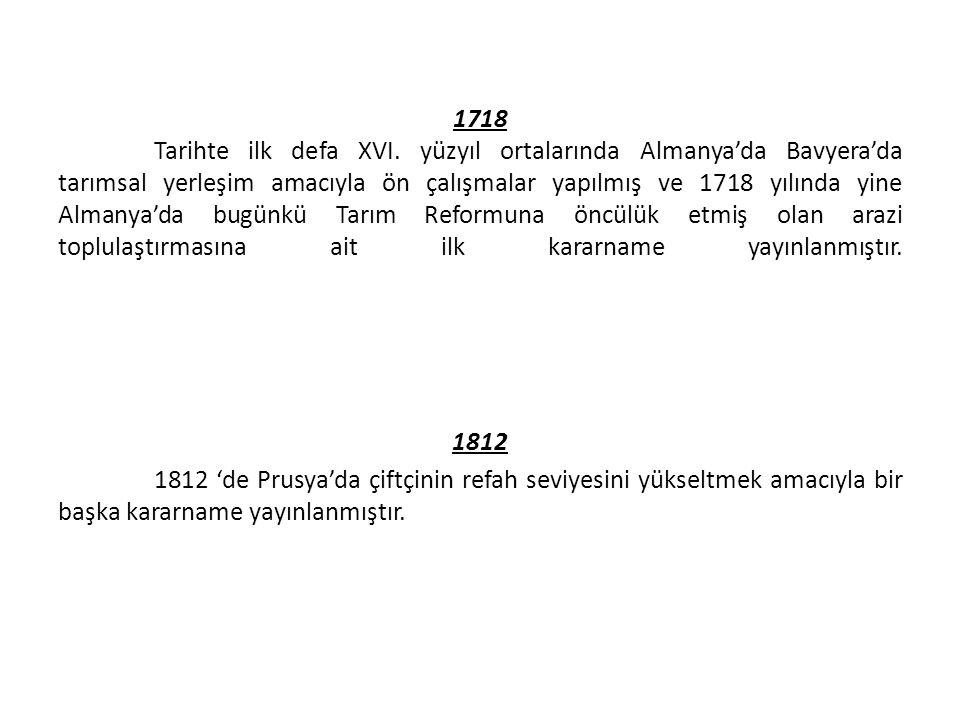 1718 Tarihte ilk defa XVI.