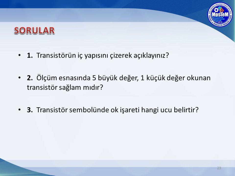 23 1.Transistörün iç yapısını çizerek açıklayınız.