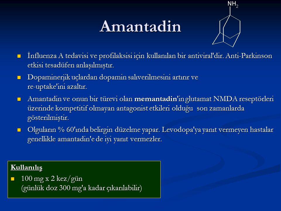 Amantadin İnfluenza A tedavisi ve profilaksisi için kullanılan bir antiviral dir.