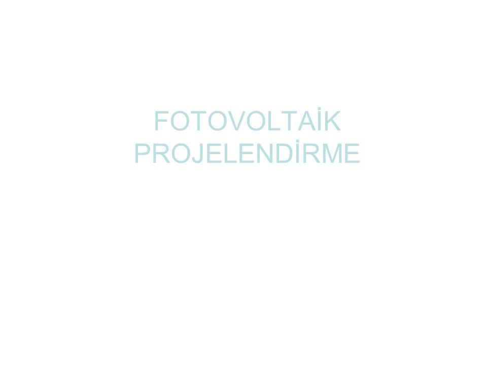 FOTOVOLTAİK PROJELENDİRME
