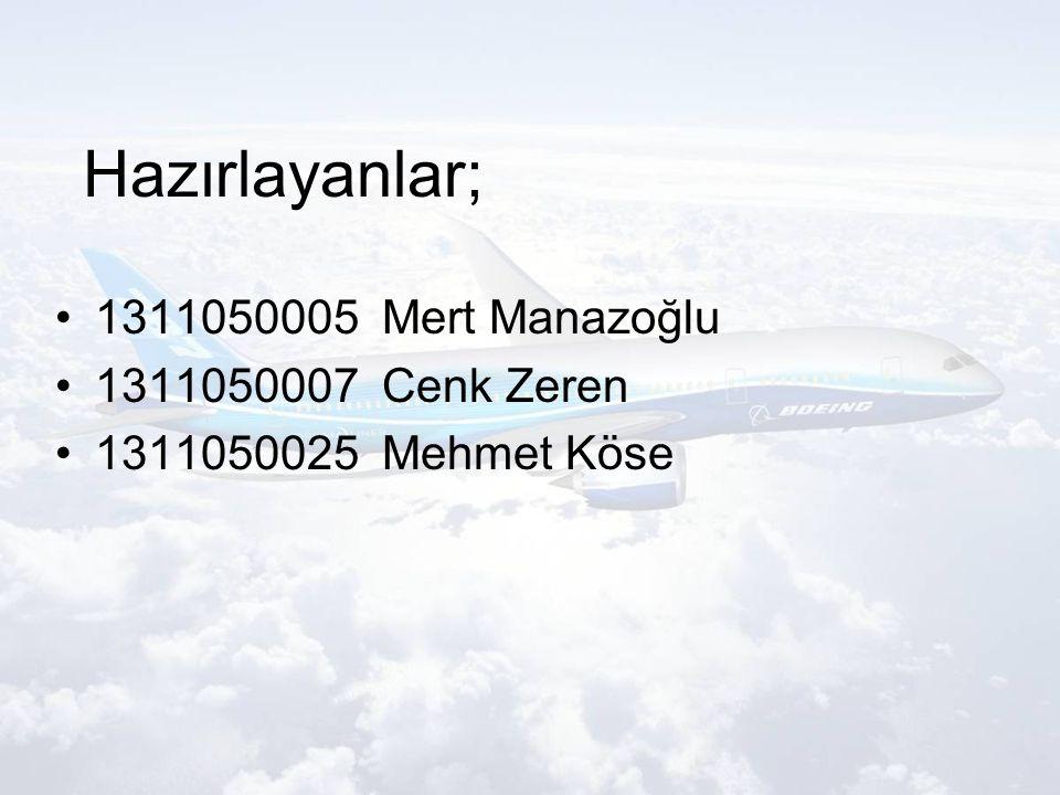 Hazırlayanlar; 1311050005 Mert Manazoğlu 1311050007 Cenk Zeren 1311050025 Mehmet Köse