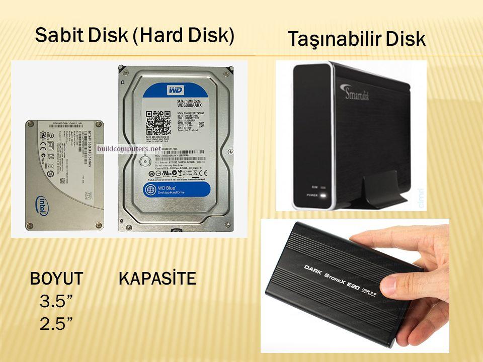 """BOYUT 3.5"""" 2.5"""" KAPASİTE Taşınabilir Disk"""
