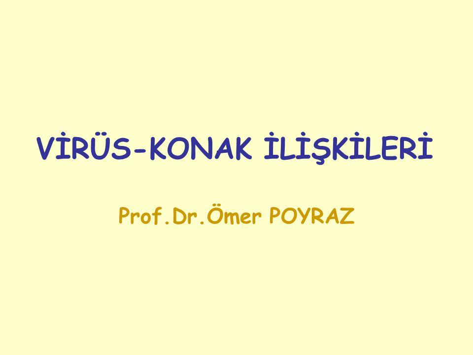 VİRÜS-KONAK İLİŞKİLERİ Prof.Dr.Ömer POYRAZ