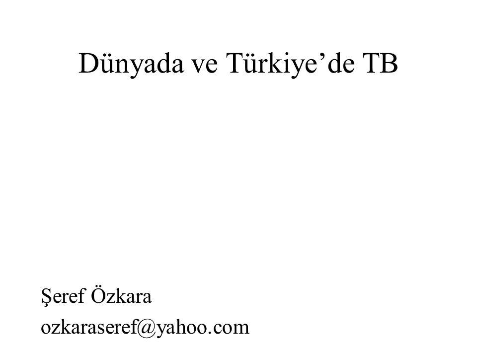 Dünyada ve Türkiye'de TB Şeref Özkara ozkaraseref@yahoo.com