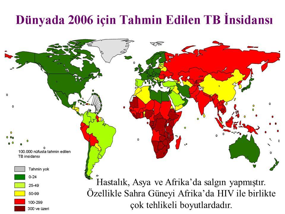 Hastalık, Asya ve Afrika'da salgın yapmıştır. Özellikle Sahra Güneyi Afrika'da HIV ile birlikte çok tehlikeli boyutlardadır.