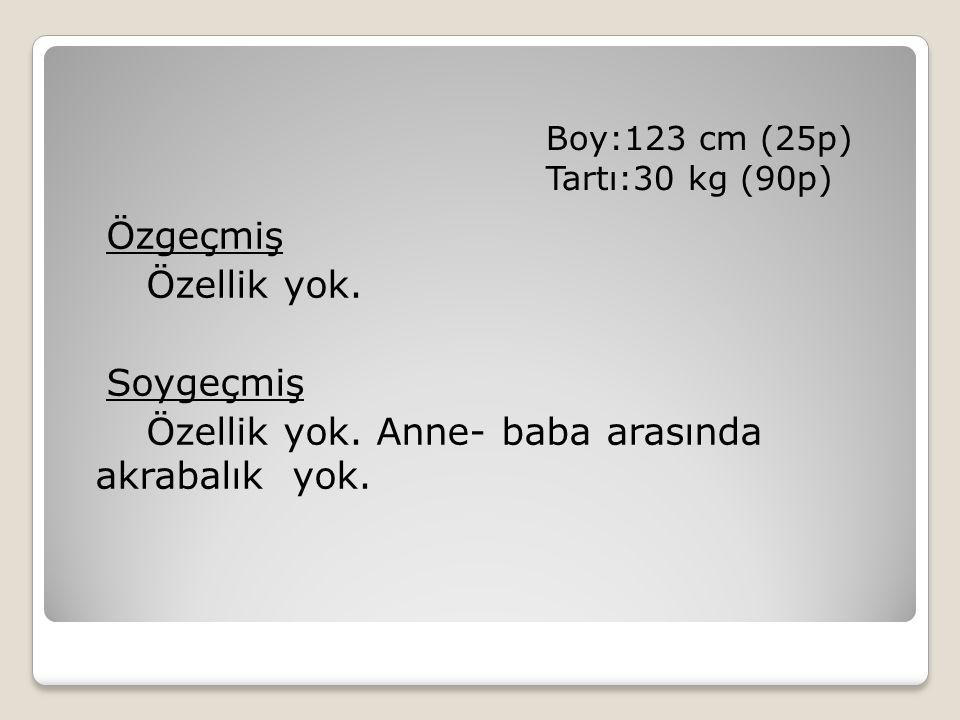 Boy:123 cm (25p) Tartı:30 kg (90p) Özgeçmiş Özellik yok.