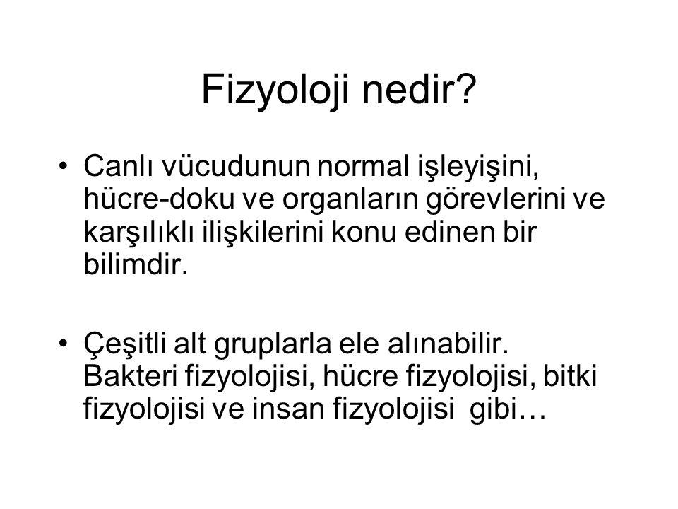 Fizyoloji nedir.