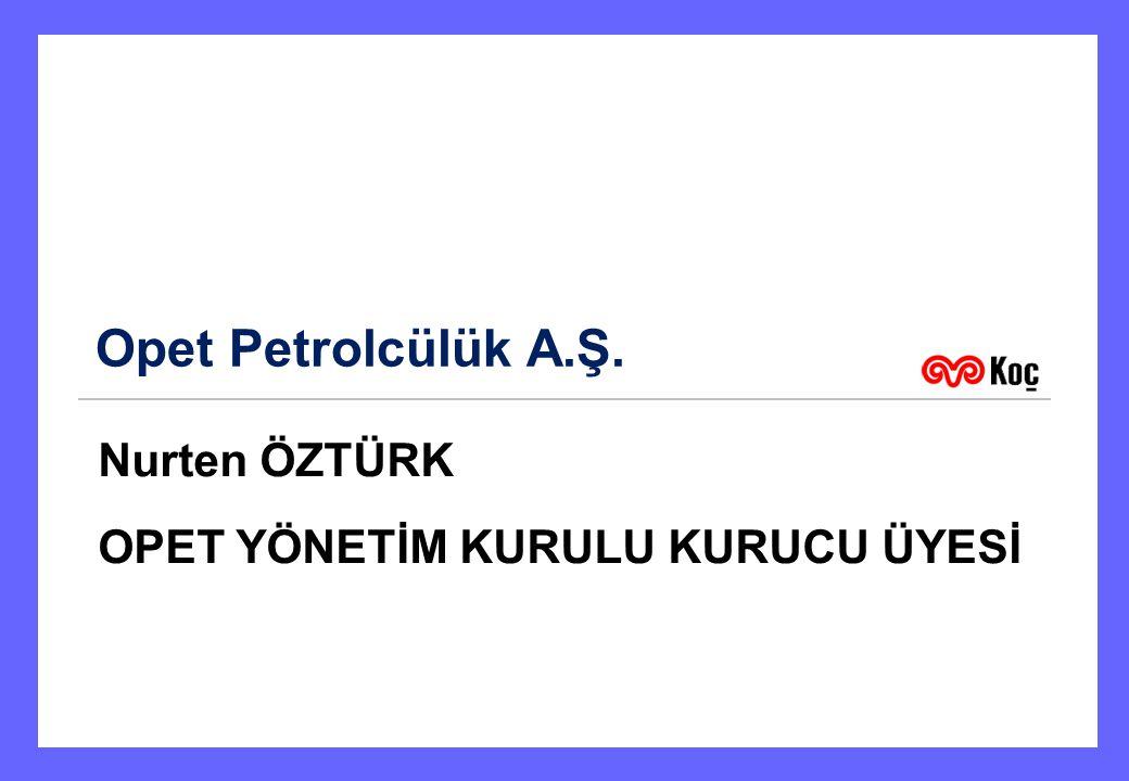 Opet Petrolcülük A.Ş. Nurten ÖZTÜRK OPET YÖNETİM KURULU KURUCU ÜYESİ