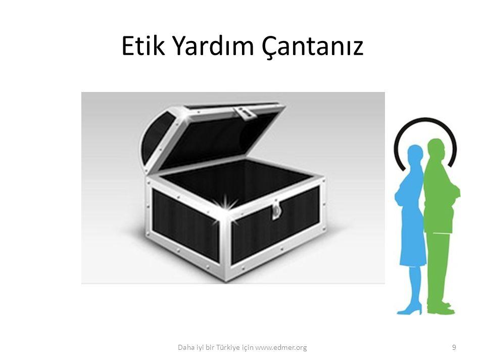 Etik Yardım Çantanız Daha iyi bir Türkiye için www.edmer.org9