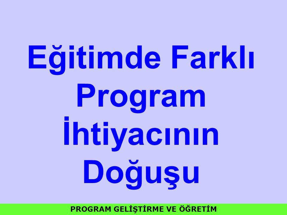 Program Türleri Ders ve Konu Merkezli Programlar Disiplinlerin Yapısına Dayalı Programlar Çocuğu Merkeze Alan Programlar Aktiviteye-Etkinliklere Dayalı Programlar Sosyal ve Toplumsal Problemleri Merkeze Alan Programlar Yeterliğe Dayalı Programlar PROGRAM GELİŞTİRME VE ÖĞRETİM