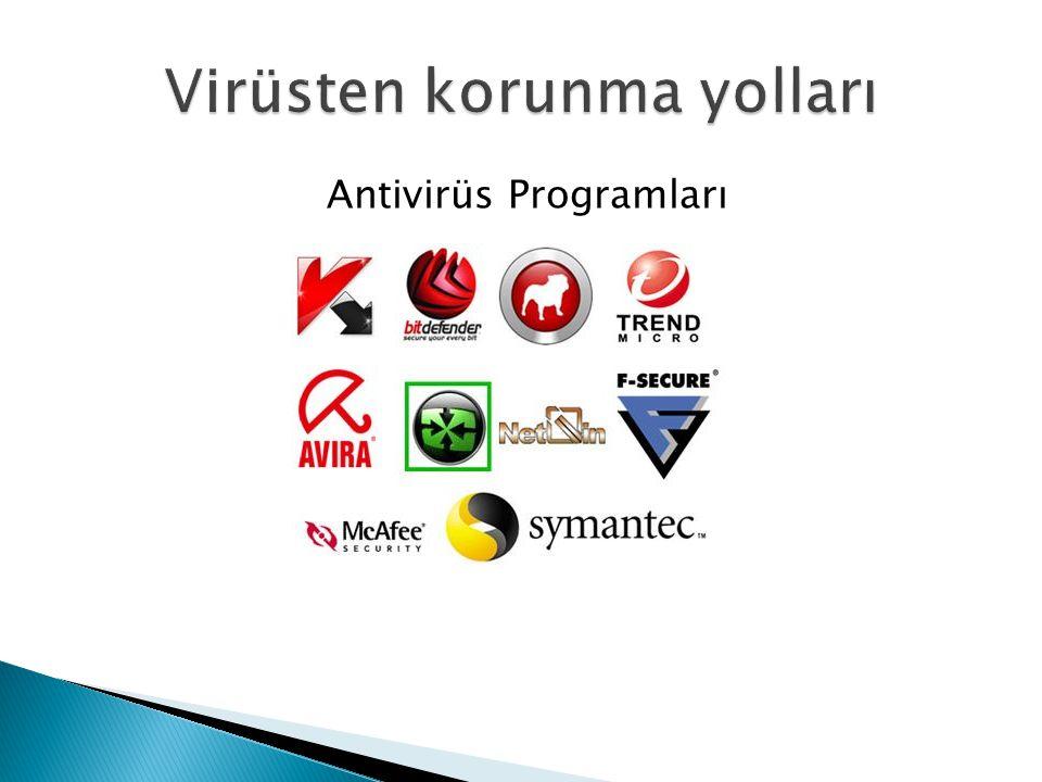 Antivirüs bilgisayarınızın zararlı programlardan korumak için hazırlanan güvenlik yazılımlarına denir.