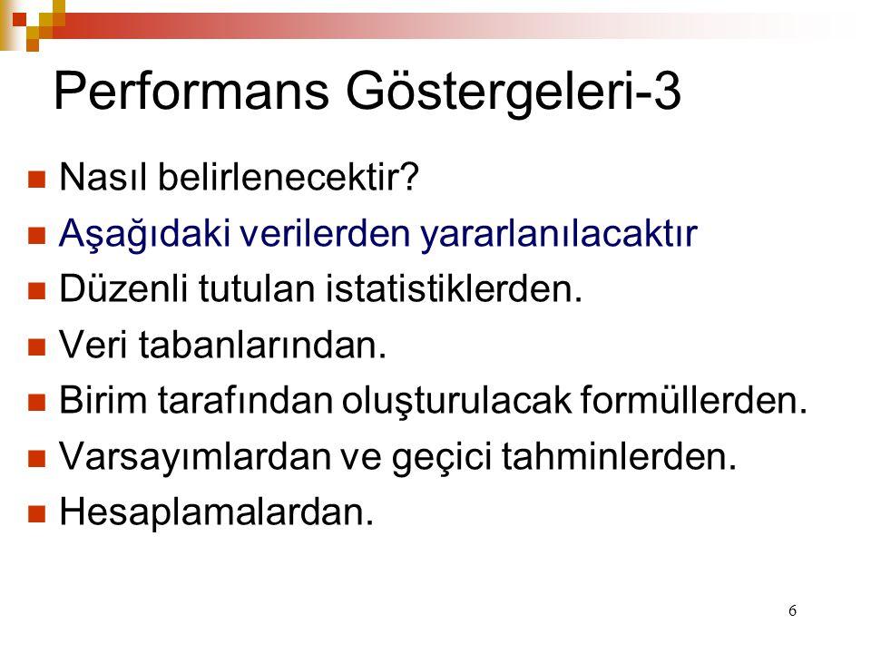 6 Performans Göstergeleri-3 Nasıl belirlenecektir.