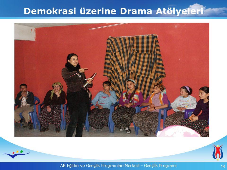 14 AB Eğitim ve Gençlik Programları Merkezi – Gençlik Programı Demokrasi üzerine Drama Atölyeleri