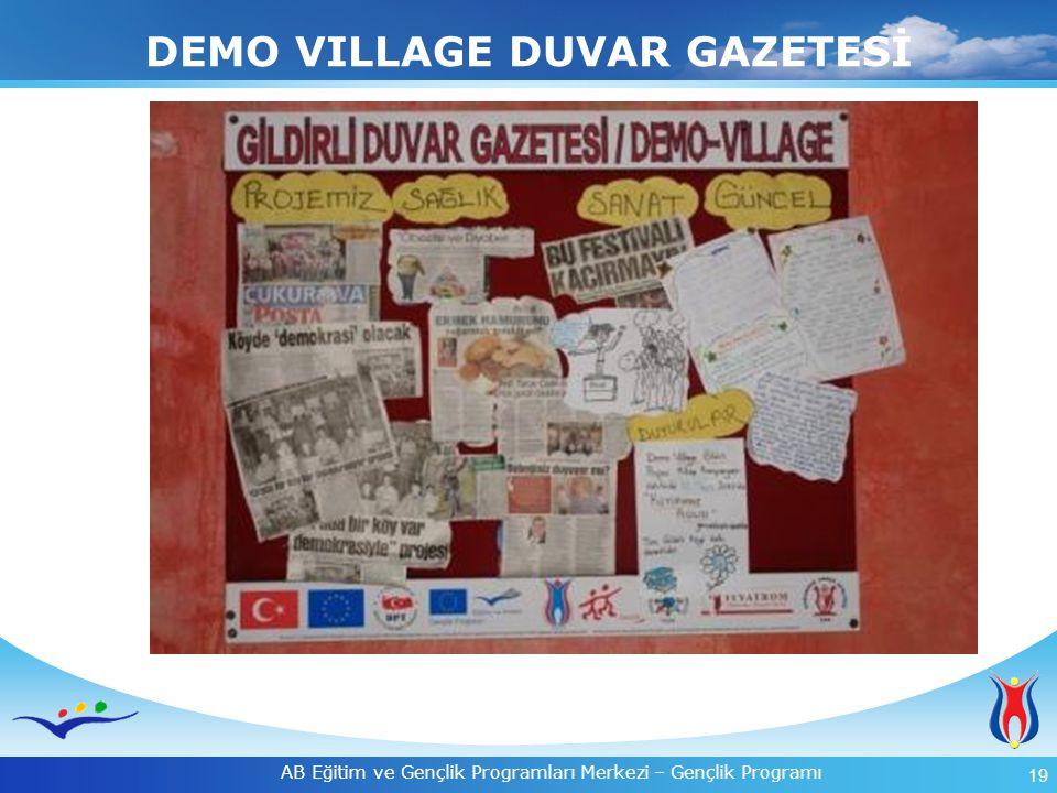 20 AB Eğitim ve Gençlik Programları Merkezi – Gençlik Programı  Duvar gazetesi, haftalık güncel haberler alan köyün ortak iletişim panosu oldu.
