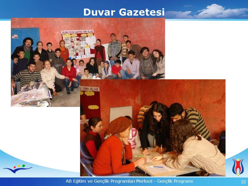 22 AB Eğitim ve Gençlik Programları Merkezi – Gençlik Programı Duvar Gazetesi
