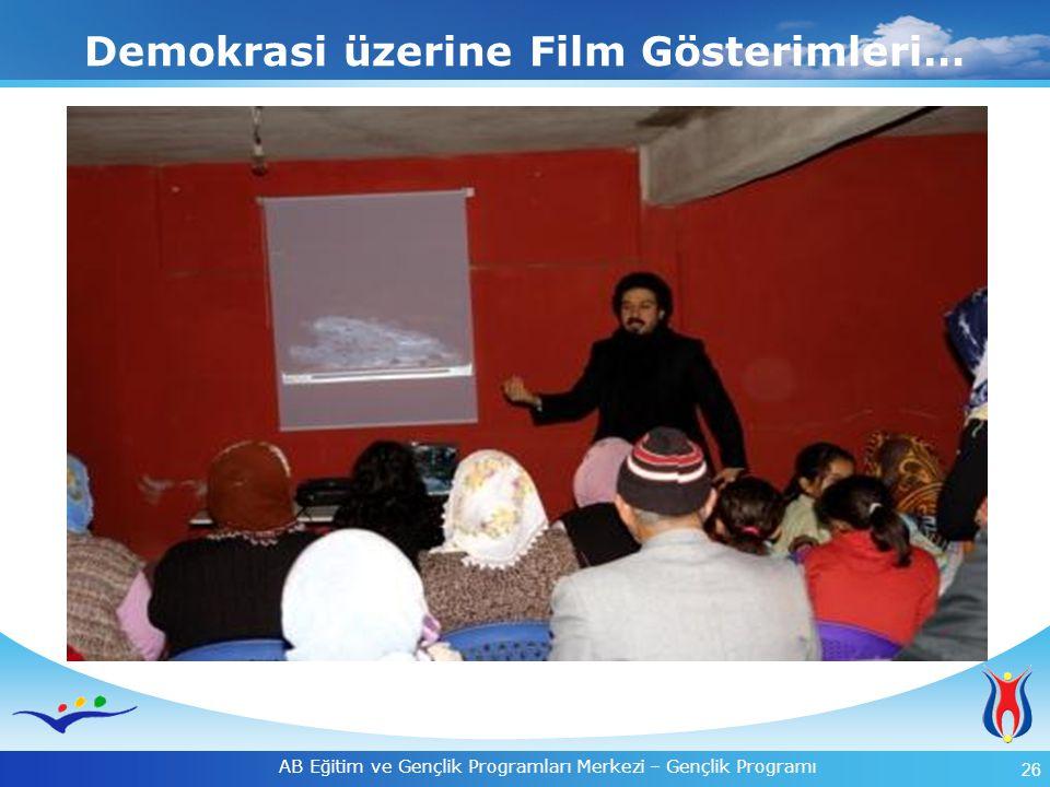 26 AB Eğitim ve Gençlik Programları Merkezi – Gençlik Programı Demokrasi üzerine Film Gösterimleri…