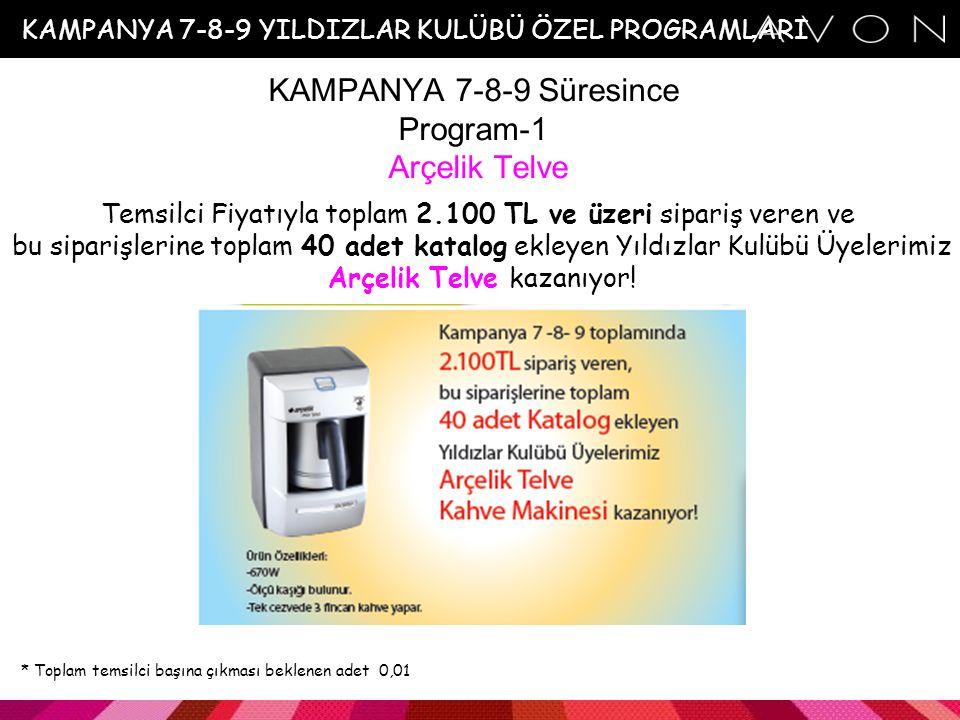 KAMPANYA 8-9 Yeni Temsilci Geli ş tirme Programı