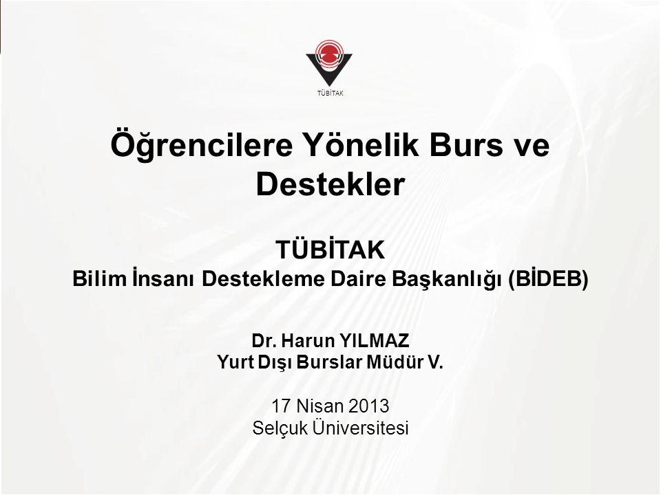 TÜBİTAK Selçuk Ü.'nin Desteklenme Oranı * Türkiye Oranı, ilk ve ortaöğretim öğrencilerine yönelik destekler hariç tutularak hesaplanmıştır.