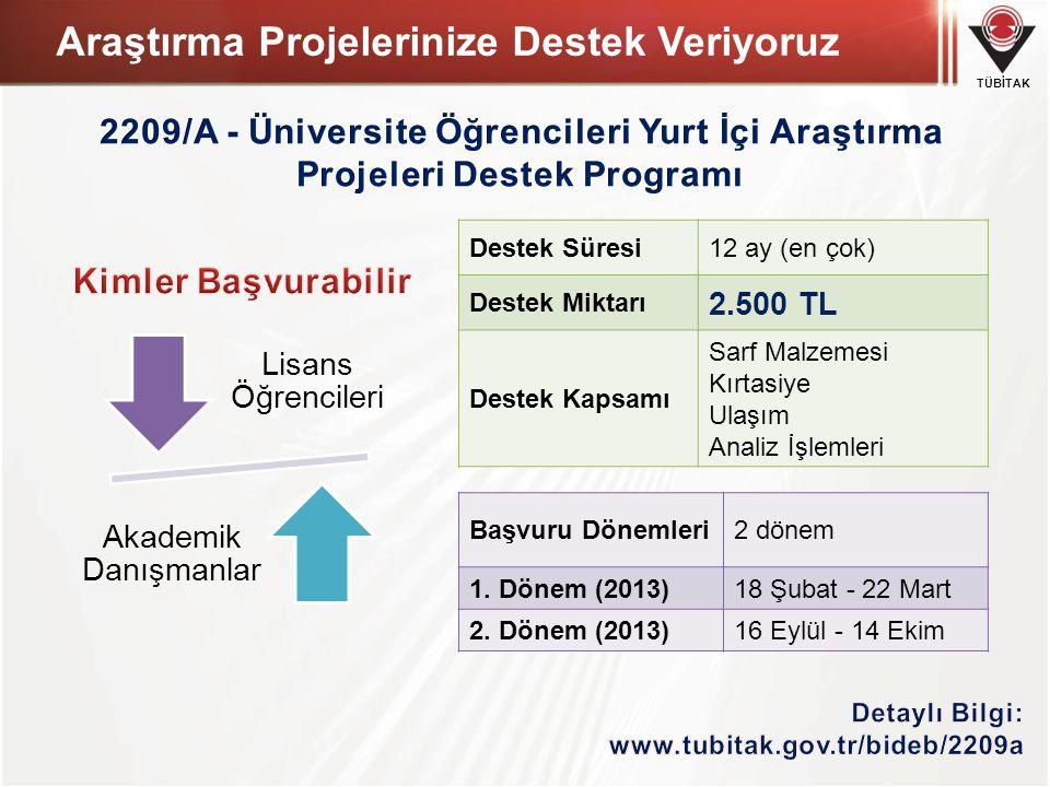TÜBİTAK Genel İstatistikler II. Bölüm