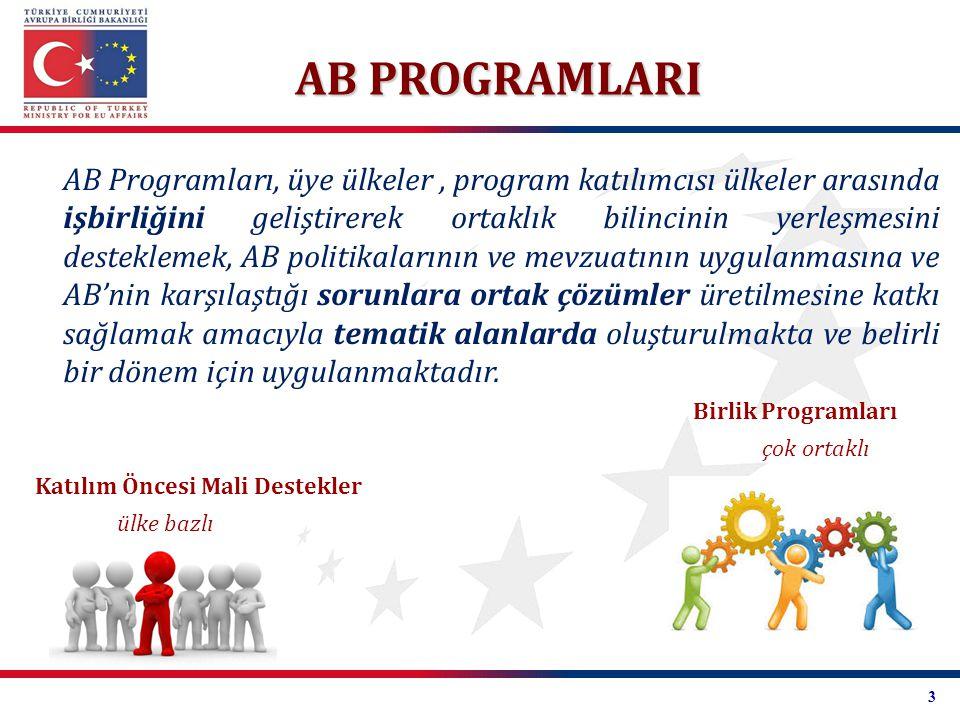 AB Programları, üye ülkeler, program katılımcısı ülkeler arasında işbirliğini geliştirerek ortaklık bilincinin yerleşmesini desteklemek, AB politikala
