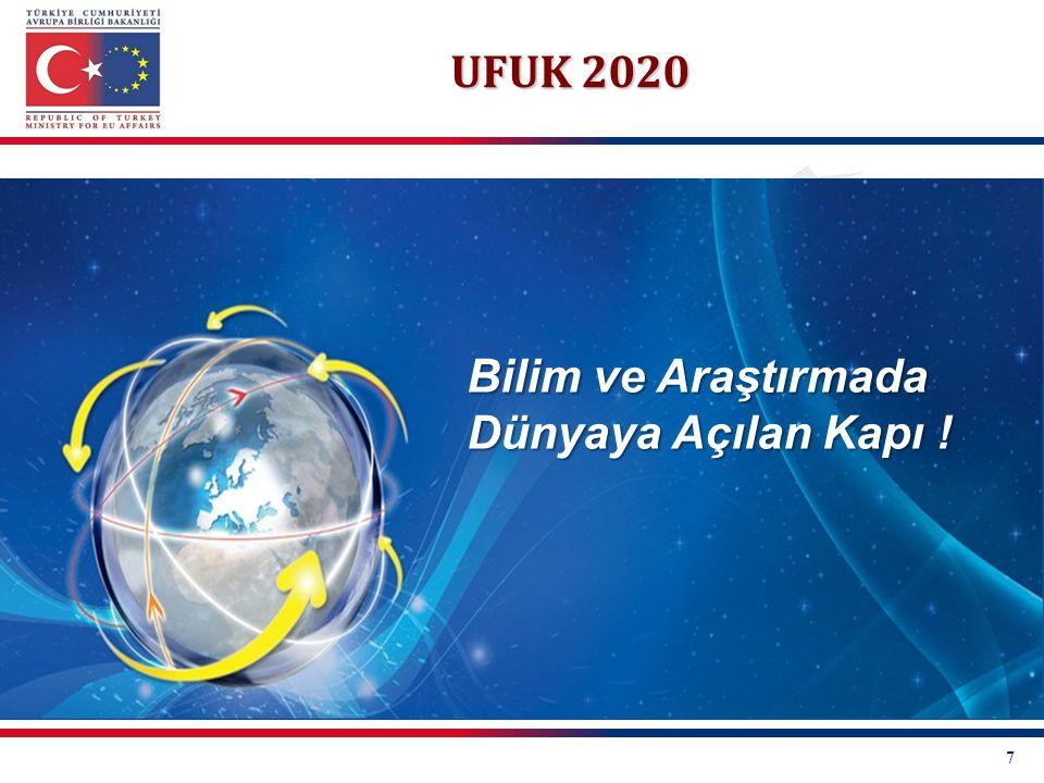 UFUK 2020 Bilim ve Araştırmada Dünyaya Açılan Kapı ! 7