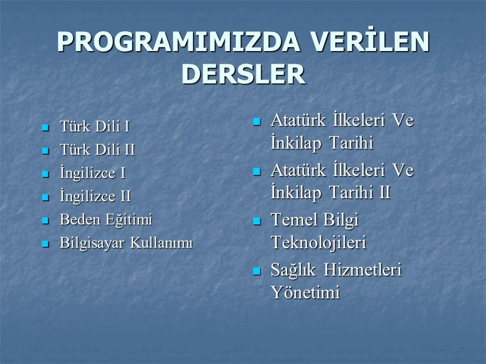 Türk Dili I Türk Dili I Türk Dili II Türk Dili II İngilizce I İngilizce I İngilizce II İngilizce II Beden Eğitimi Beden Eğitimi Bilgisayar Kullanımı B