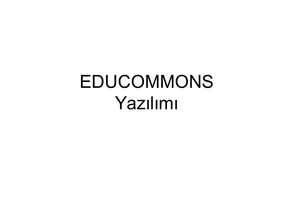 EDUCOMMONS Yazılımı