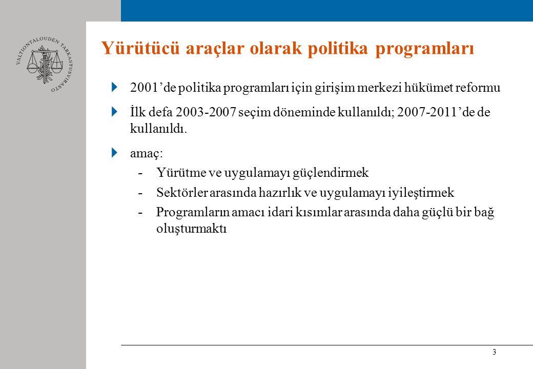 3 Yürütücü araçlar olarak politika programları 2001'de politika programları için girişim merkezi hükümet reformu İlk defa 2003-2007 seçim döneminde kullanıldı; 2007-2011'de de kullanıldı.