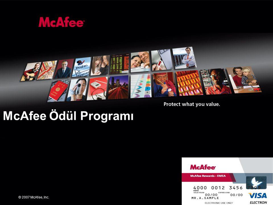 © 2007 McAfee, Inc. McAfee Ödül Programı