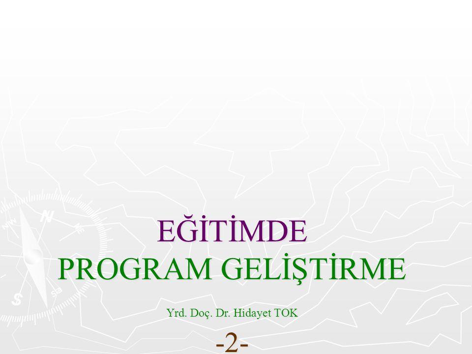 20.Yüzyılda Program Geliştirme 20.
