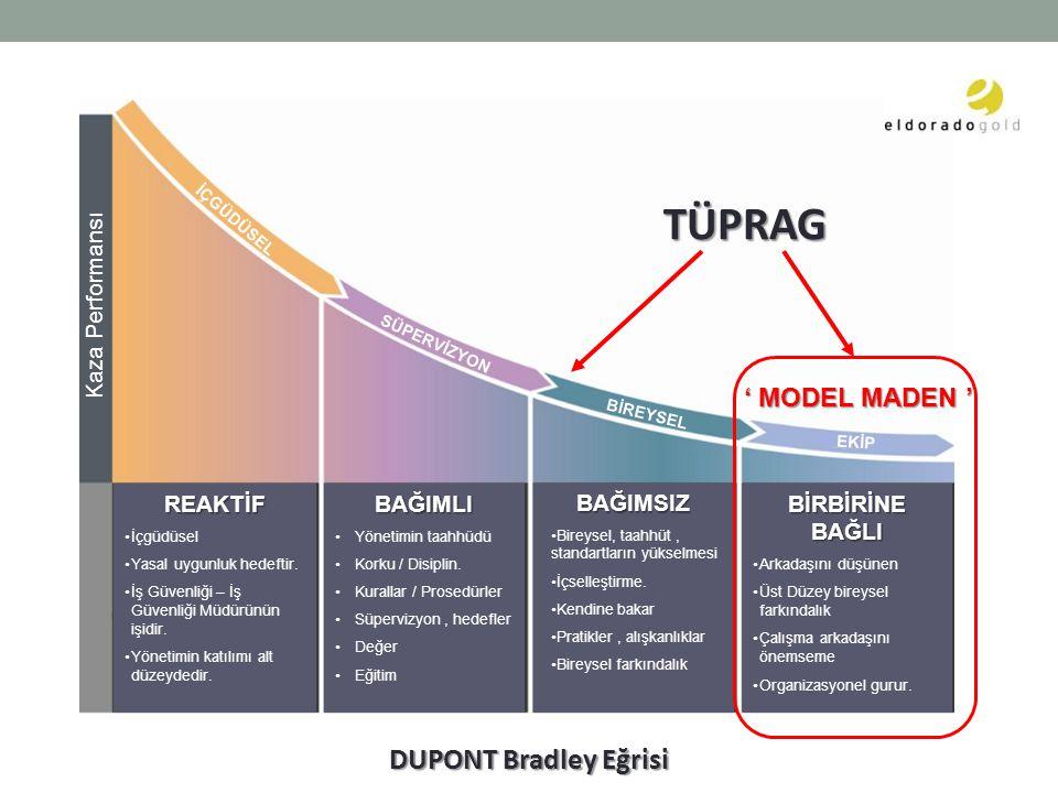 DUPONT Bradley Eğrisi REAKTİF İçgüdüsel Yasal uygunluk hedeftir.