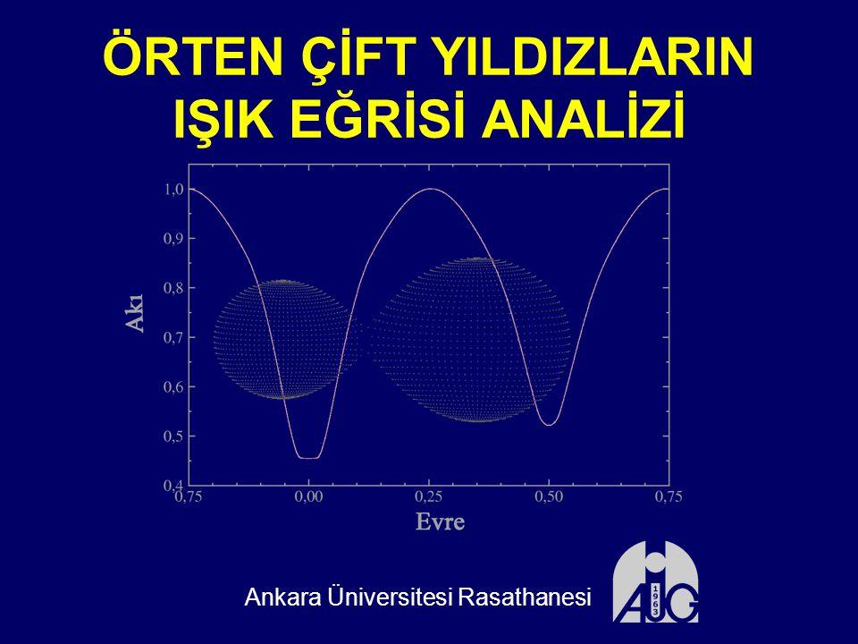 ÖRTEN ÇİFT YILDIZLARIN IŞIK EĞRİSİ ANALİZİ Ankara Üniversitesi Rasathanesi