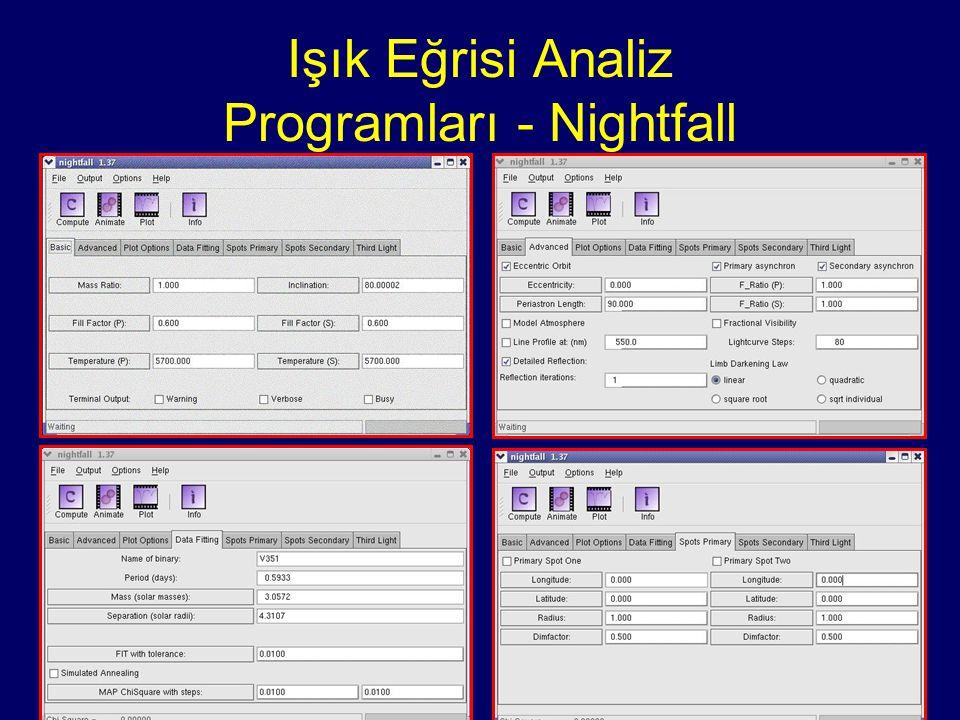 Işık Eğrisi Analiz Programları - Nightfall
