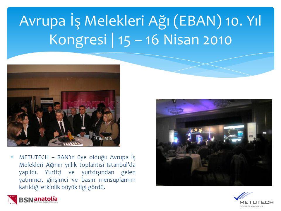 Avrupa İş Melekleri Ağı (EBAN) 10.