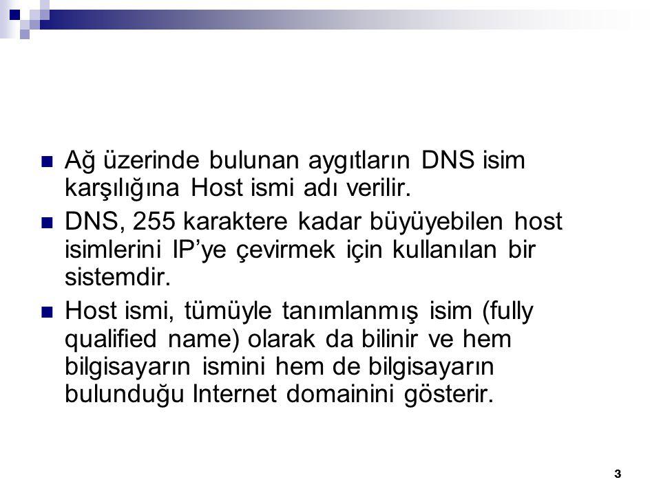 4 DNS Tarihçesi 1970'li yıllarda dünya üzerindeki bilgisayarların sayısı o kadar azdı ki bilgisayarlar kendi aralarında konuşmak için numeric ve alphanumeric adreslerini bir hosts.txt dosyası içinde tutarlardı.