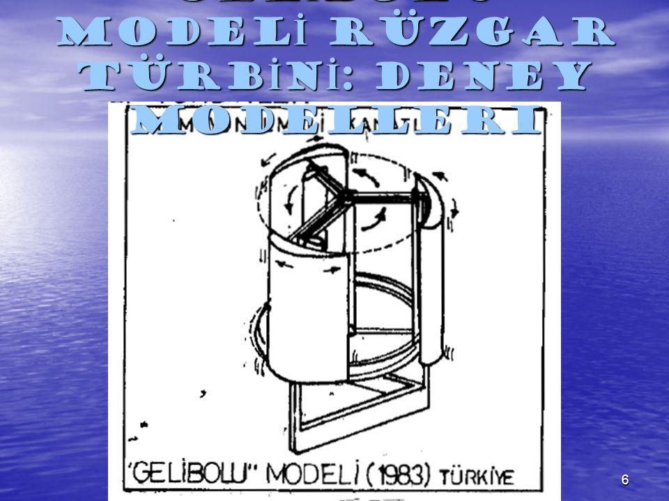 6 GEL İ BOLU MODEL İ RÜZGAR TÜRB İ N İ : Deney Modelleri