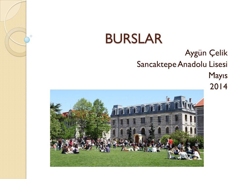 BURSLAR Aygün Çelik Sancaktepe Anadolu Lisesi Mayıs 2014