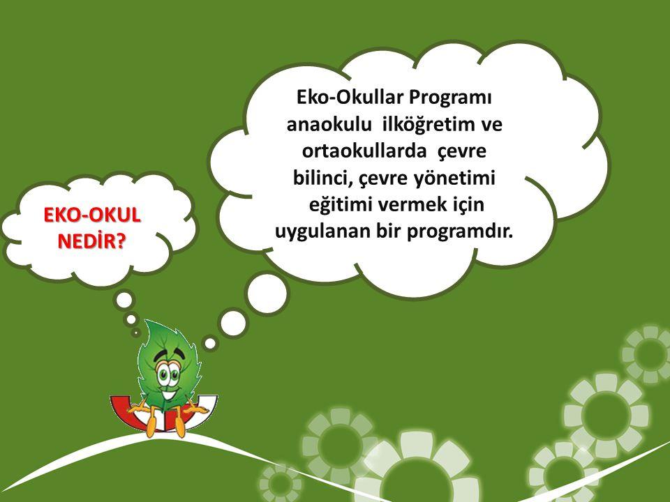 Eko-Okullar Programı anaokulu ilköğretim ve ortaokullarda çevre bilinci, çevre yönetimi eğitimi vermek için uygulanan bir programdır. EKO-OKULNEDİR?