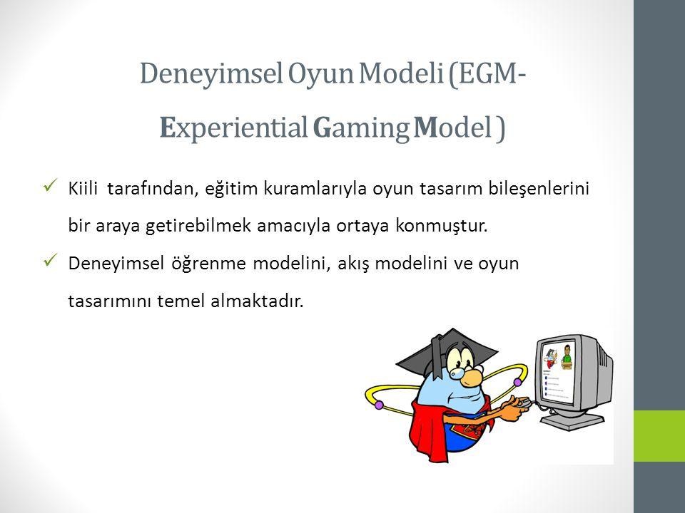 Kiili tarafından, eğitim kuramlarıyla oyun tasarım bileşenlerini bir araya getirebilmek amacıyla ortaya konmuştur.