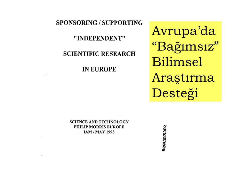 """Avrupa'da """"Bağımsız"""" Bilimsel Araştırma Desteği"""