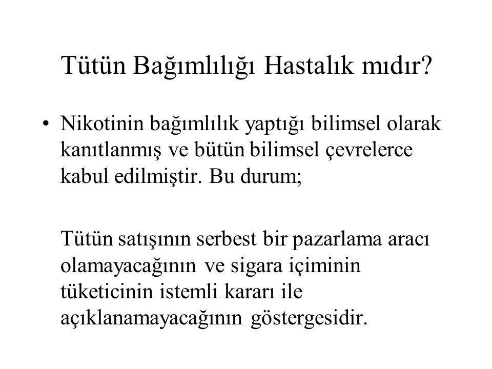 Gizli ve dolaylı reklamların devamı Kanıtlar: 1) Türkiye Küresel Gençlik Tütün Araştırması ve International Research and Development Center Türkiye Gençlik Çalışması sonuçlarına göre: a)Gençlerin reklam gördüklerini belirtmeleri ve reklam gördüğünü söyleyenlerin daha çok sigara içtiğinin saptanması b)Gençlerin üçte birinin üzerinde sigara marka ve logosu olan eşantiyon eşyaya sahip olması