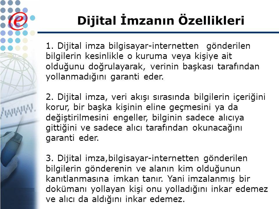 Dijital İmzanın Özellikleri 1.