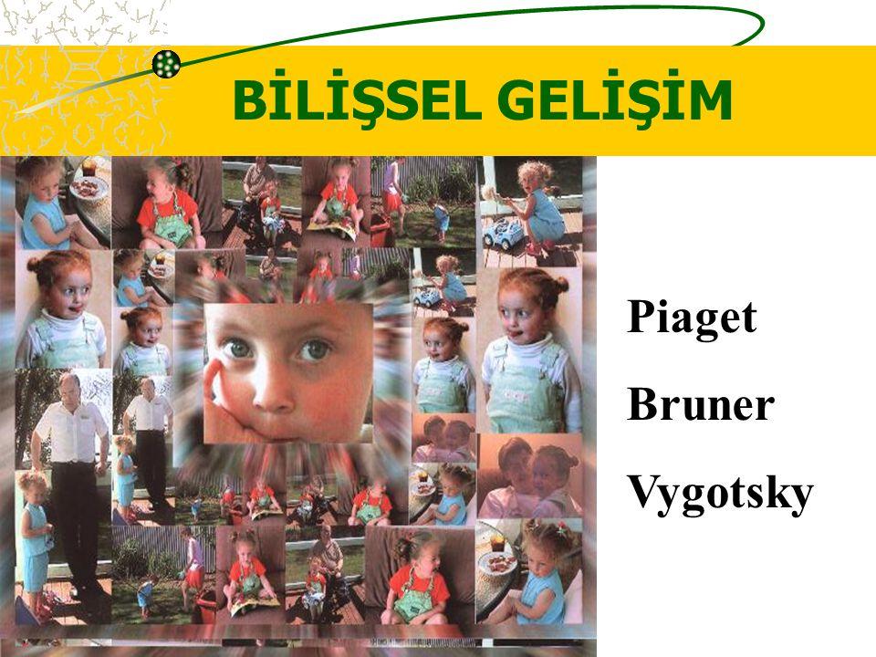 BİLİŞSEL GELİŞİM Piaget Bruner Vygotsky