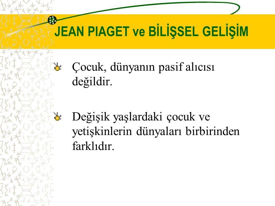 Piaget'in Kuramının Eğitim Açısından Doğurguları 1.