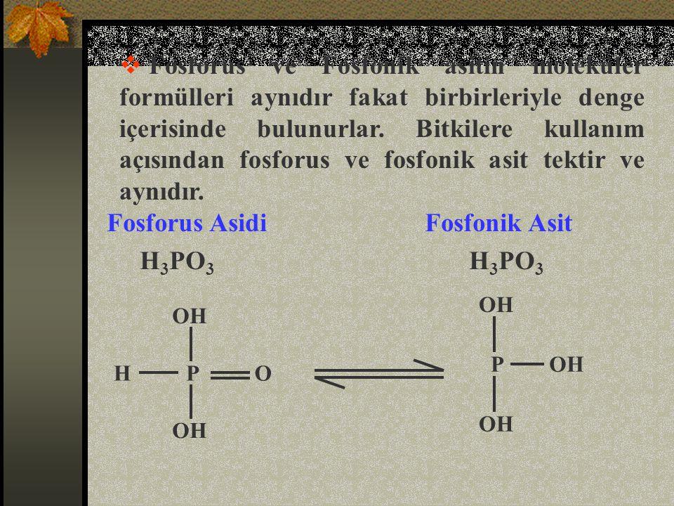 Fosfonat, fosfonik asitin tuzudur.  Potasyum fosfat K 2 HPO 3 OK OHP OK