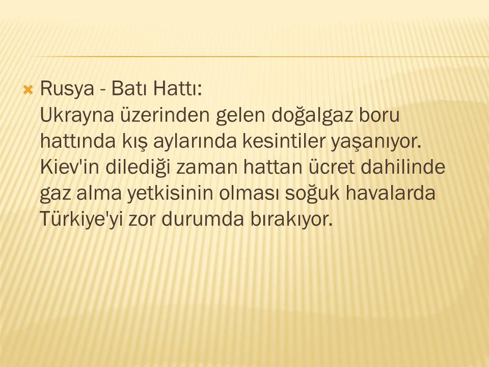  İran - Türkiye Hattı: 2001 yılından bu yana sorunlu olarak çalışan boru hattı için Türkiye Uluslararası tahkime bile gitti.