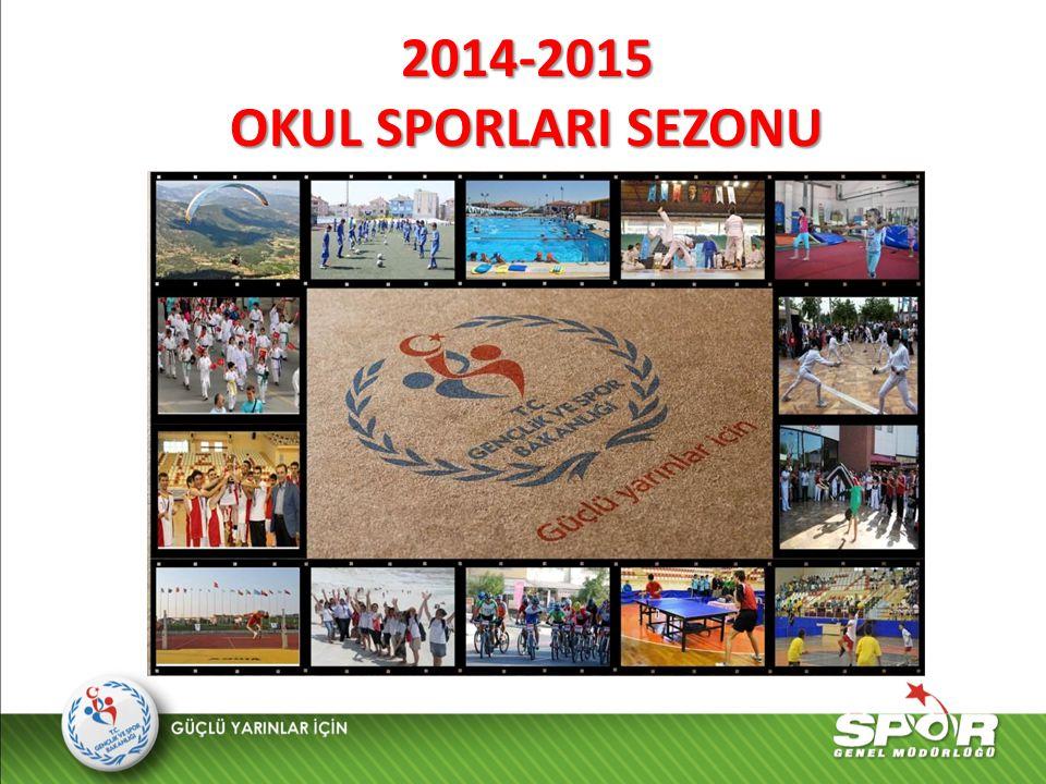 2014-2015 OKUL SPORLARI SEZONU