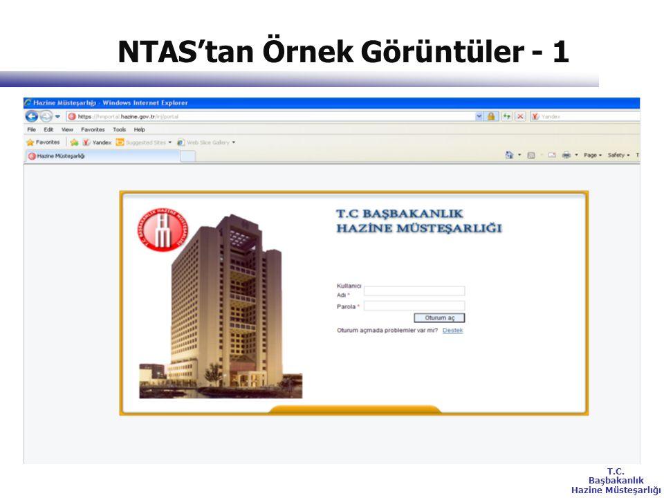 T.C. Başbakanlık Hazine Müsteşarlığı NTAS'tan Örnek Görüntüler - 1